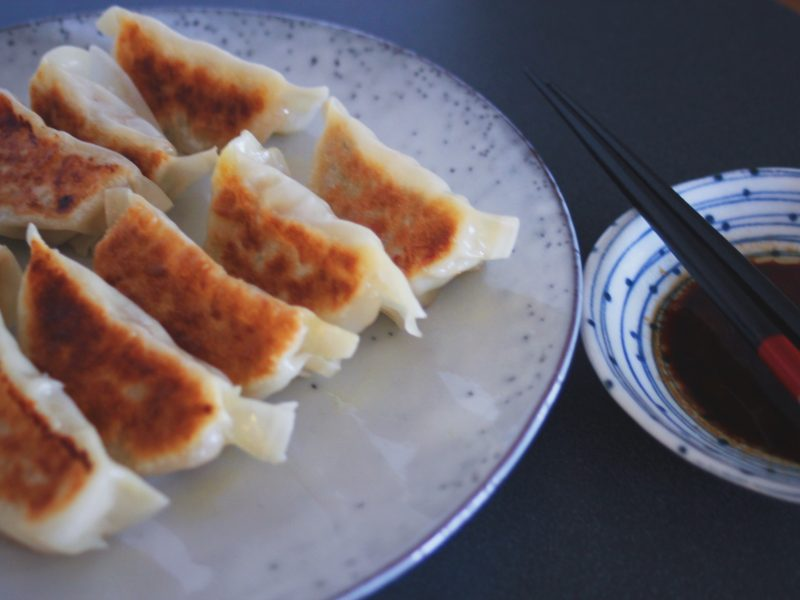 Kyckling- och zucchinidumplings [Dumplinghack]