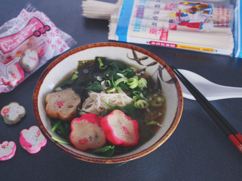 Veganskt: Misosoppa med yakifu och somen