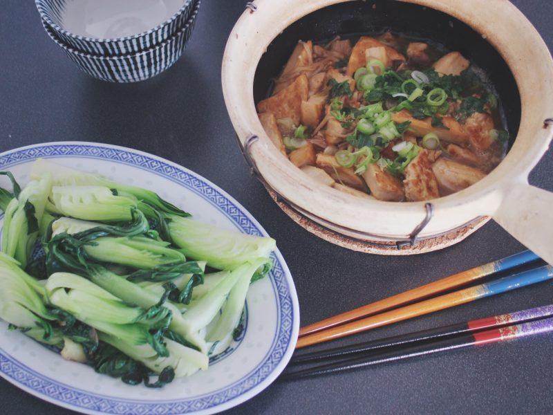 Tofugryta inspirerad av kinesiska Three Cup Chicken